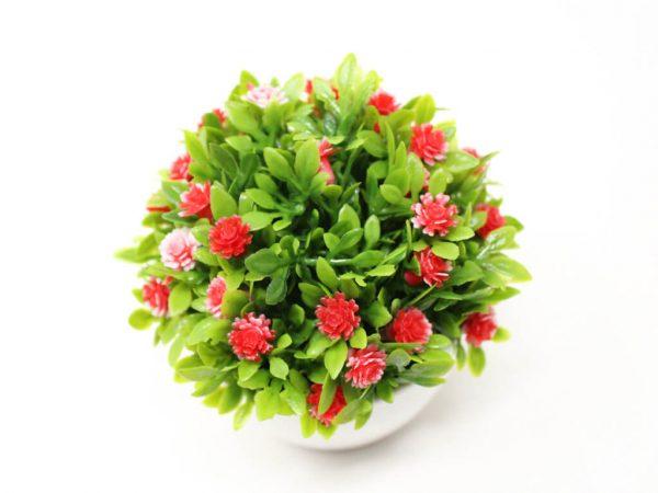 Bonsai flores 13 rojo detalle