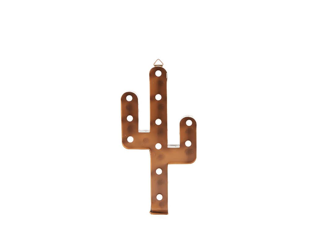 Cartel led cactus oxido chico