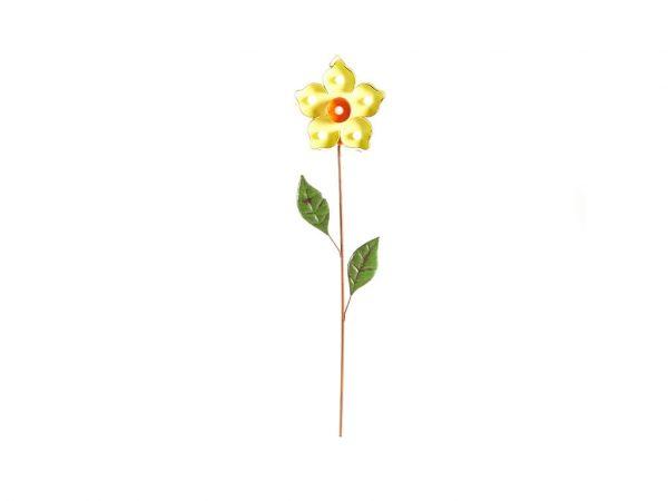 Cartel led flor 1 verde chica