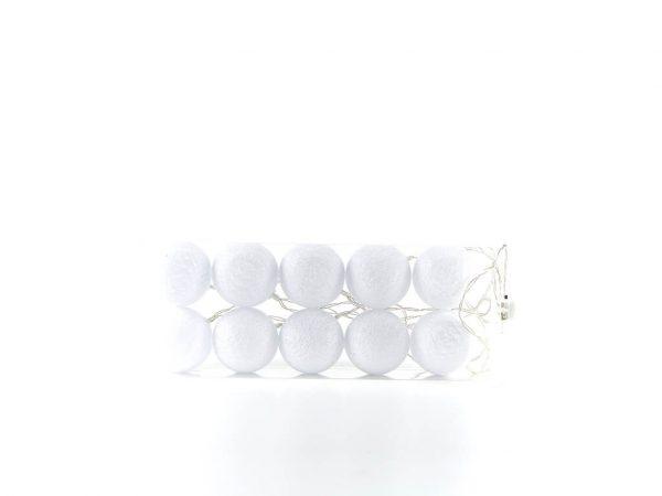 Guirnalda esferas blancas x10 unidades