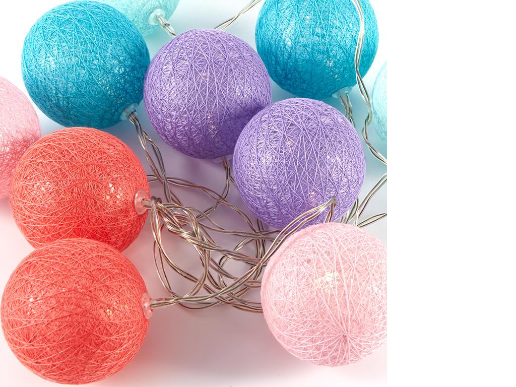 Guirnalda esferas color a x10 unidades sueltas