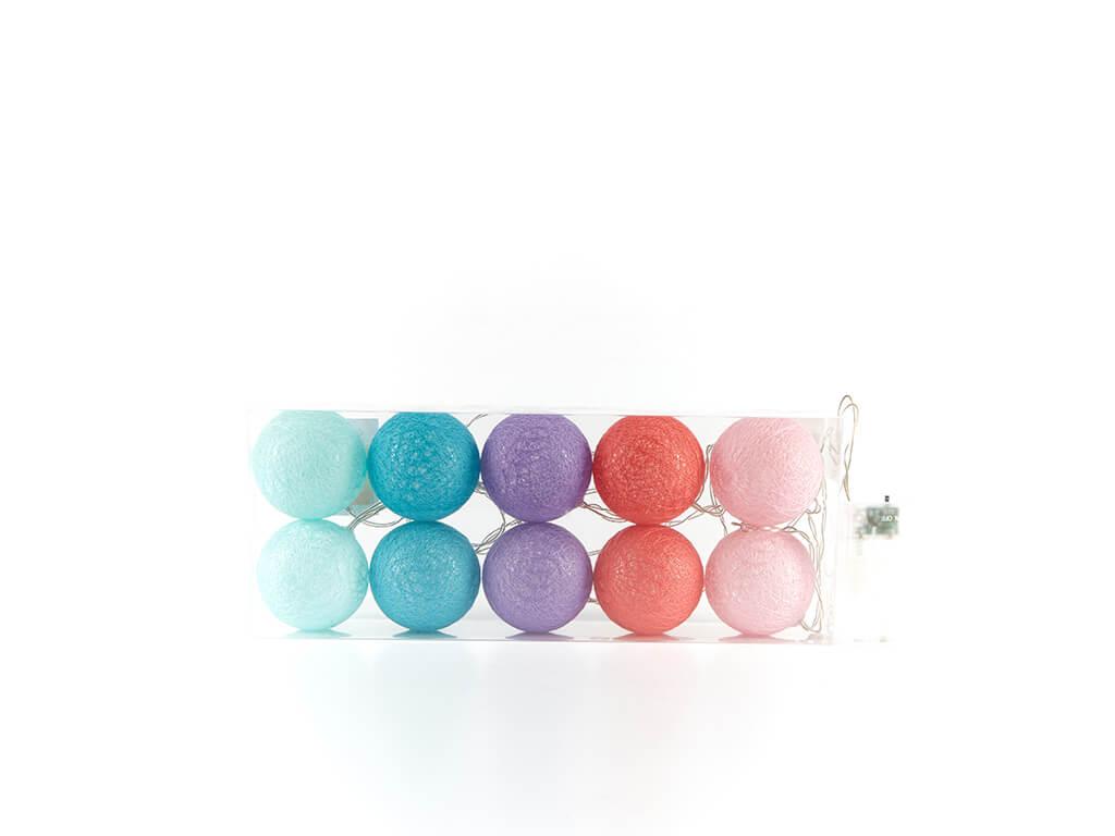 Guirnalda esferas color a x10 unidades