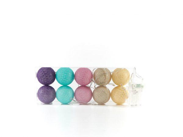 Guirnalda esferas color b x10 unidades