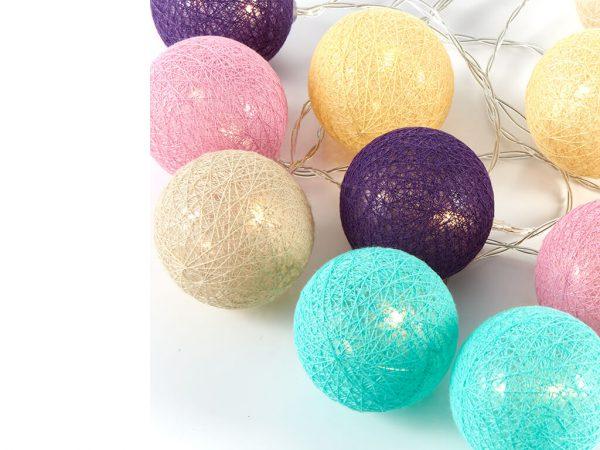 Guirnalda esferas color b x10 unidades sueltas