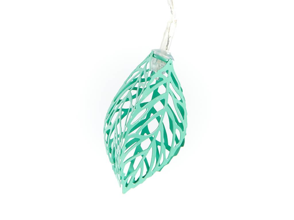 Guirnalda hojas metal 3d color x10 unidades detalle
