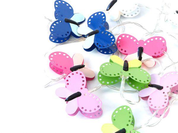 Guirnalda mariposas color x10 unidades