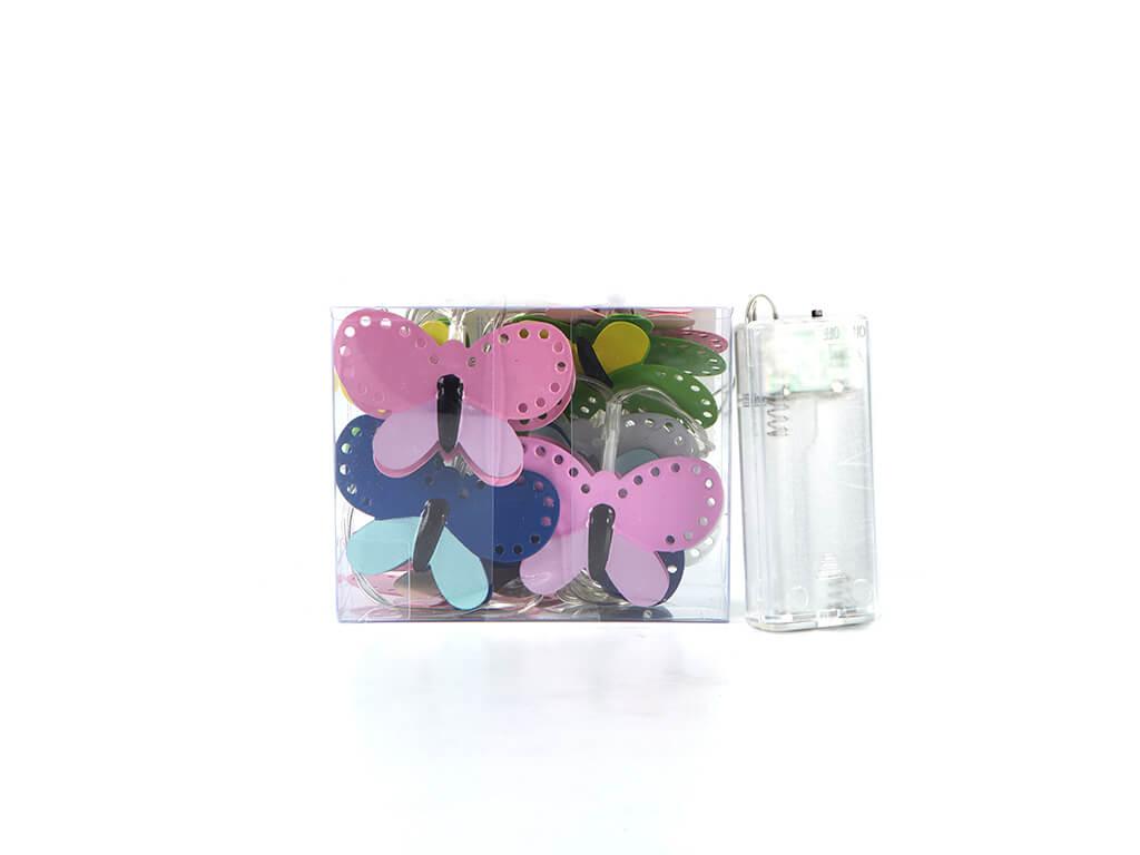 Guirnalda mariposas color x10 unidades caja