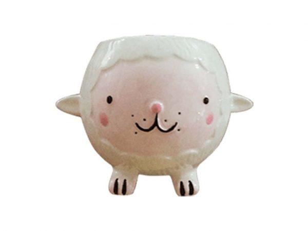Maceta animal 24 oveja blanca