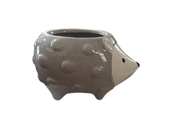 Maceta animal 31 erizo gris