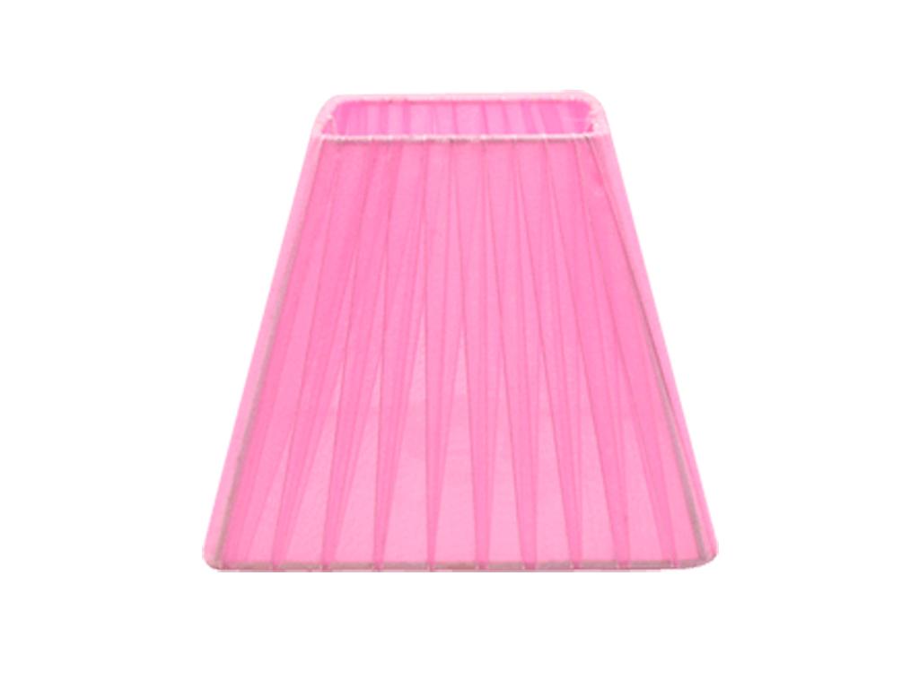 Pantalla 10x17 organza rosa