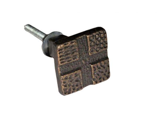 Tirador metal bronce nro 18 x10 uni