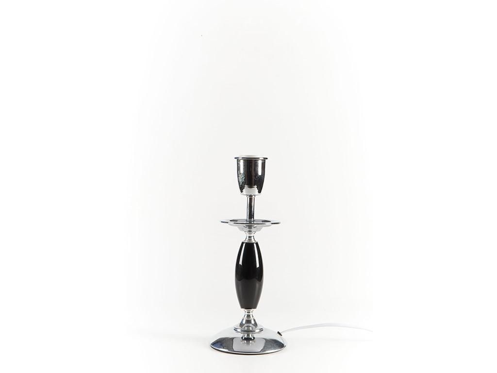 Velador 1 bocha porcelana 38 negro