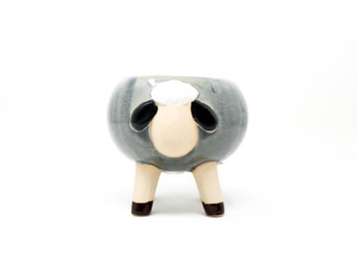 Maceta animal 110 9x9 cm oveja chica gris