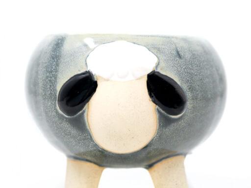 Maceta animal 110 9x9 cm oveja chica gris detalle