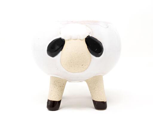 Maceta animal 209 13x12 cm oveja grande blanca
