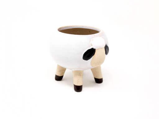 Maceta animal 209 13x12 cm oveja grande blanca lateral