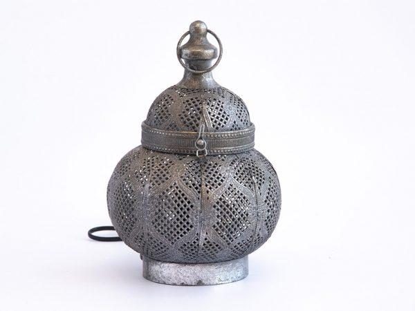 Lampara de mesa marruecos 118 plata