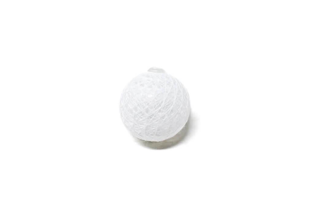 Guirnalda esfera blanca por unidad GA507