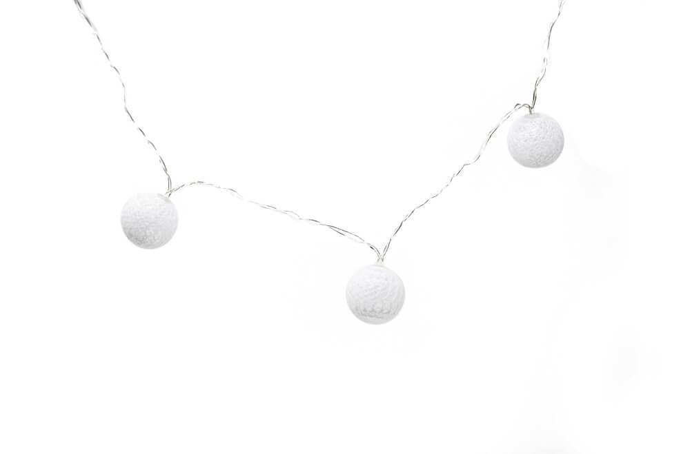 Guirnalda esfera blanca por unidad principal GA507