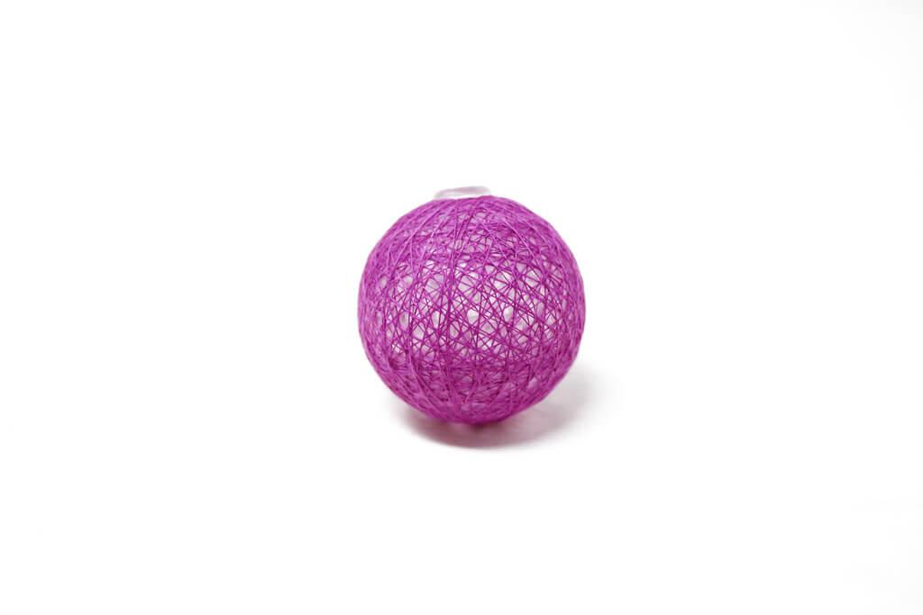 Guirnalda esfera violeta brillante por unidad GA514