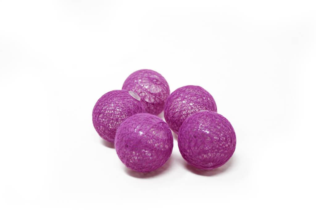 Guirnalda esfera violeta brillante por unidad detalle GA514