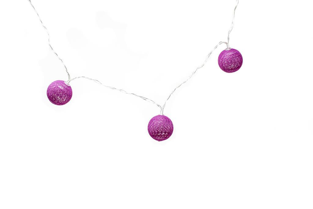 Guirnalda esfera violeta brillante por unidad principal GA514