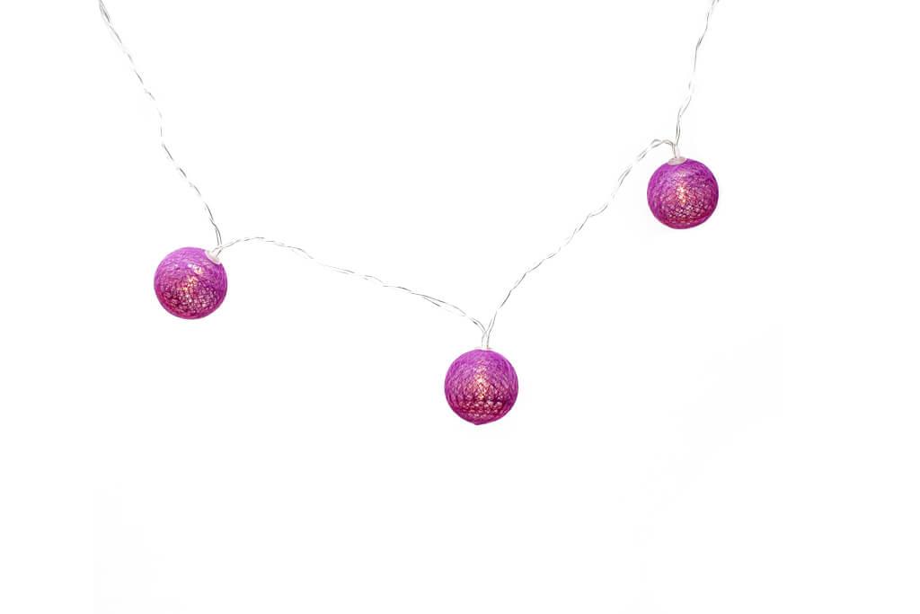 Guirnalda esfera violeta brillante por unidad principal encendidas GA514