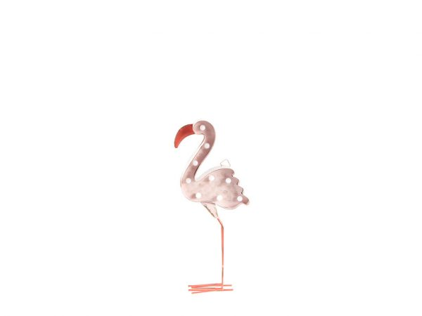 Cartel led flamingo rosa chico
