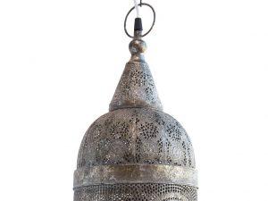 Lampara colgante marruecos 121 plata detalle