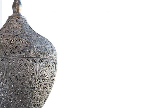 Lampara colgante marruecos 124 plata detalle