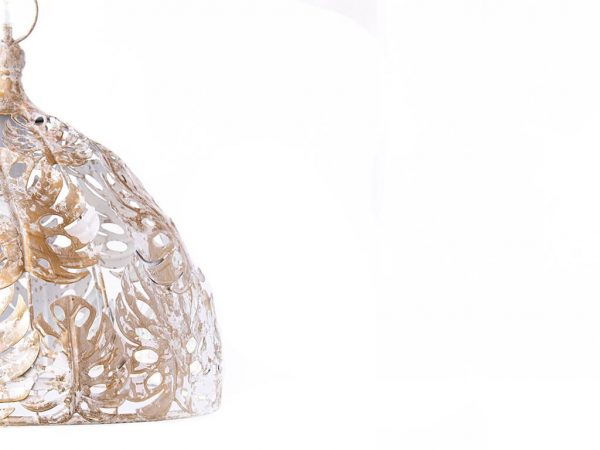 Lampara colgante marruecos 228 blanco lateral