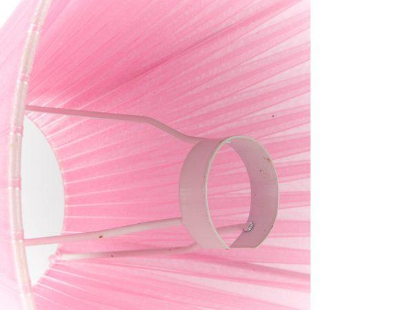 Pantalla 10x25 organza rosa detalle