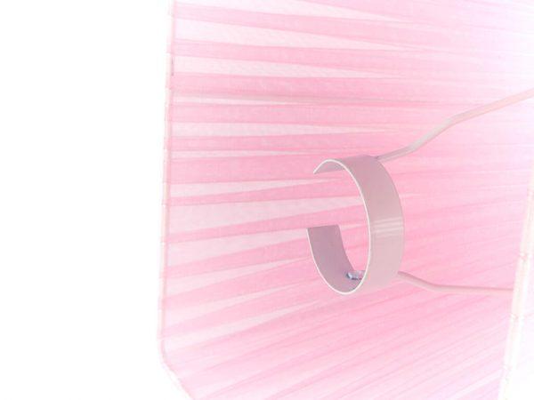 Pantalla 12x25 organza rosa detalle