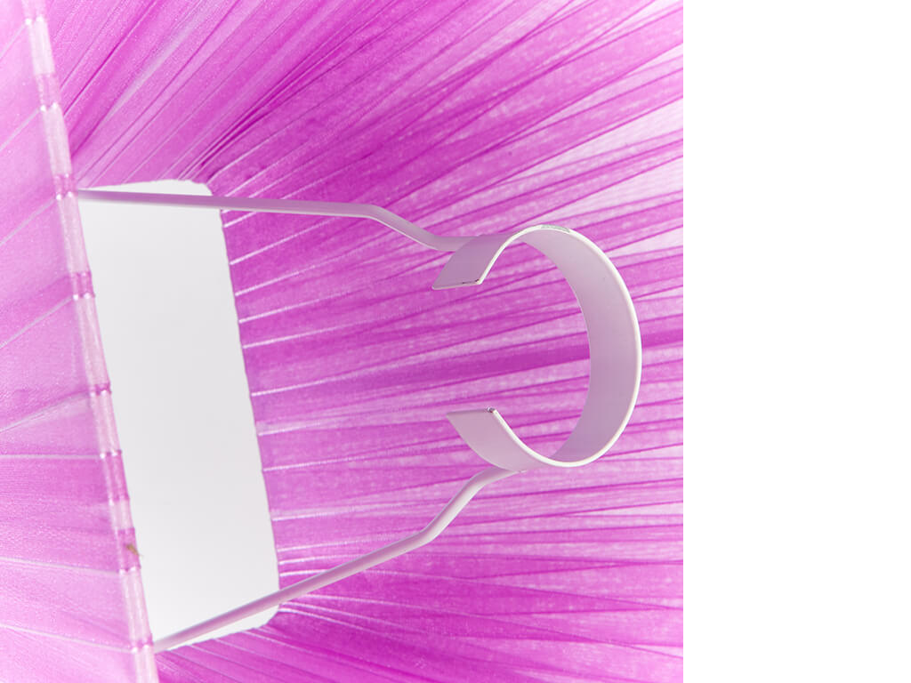 Pantalla 12x25 organza violeta detalle