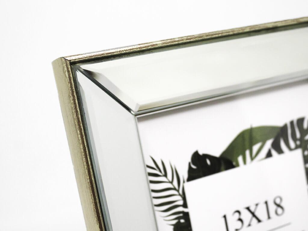 Portarretrato espejo biselado 13x18