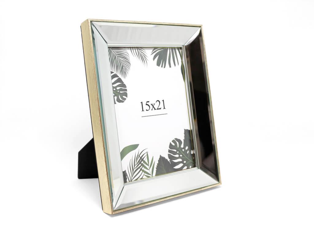 Portarretrato espejo biselado 15X21