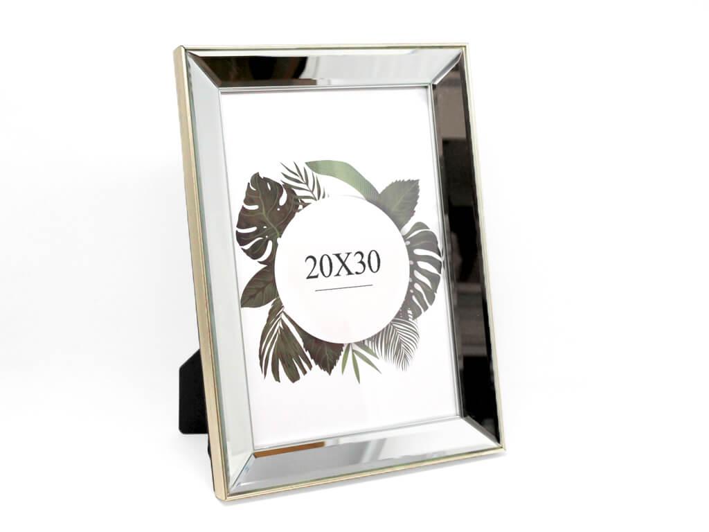Portarretrato espejo biselado 20x30