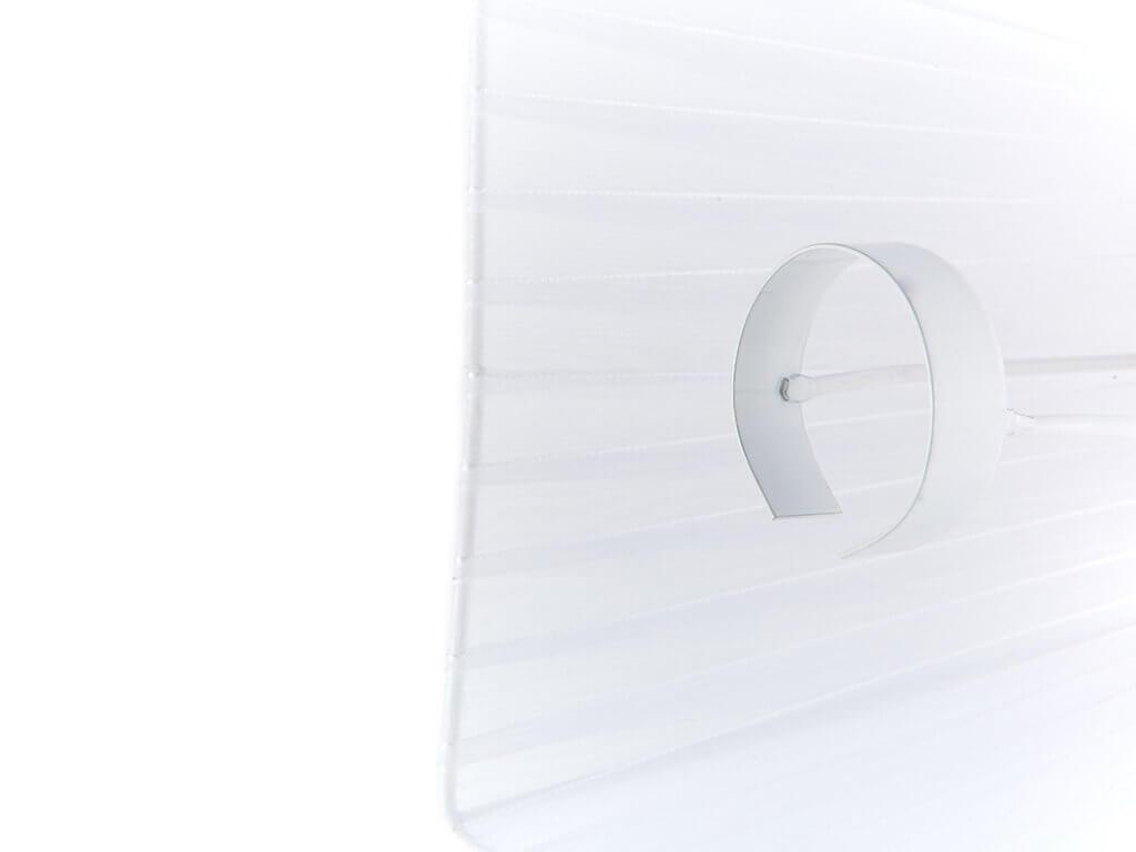 Pantalla 10x17 organza blanca detalle