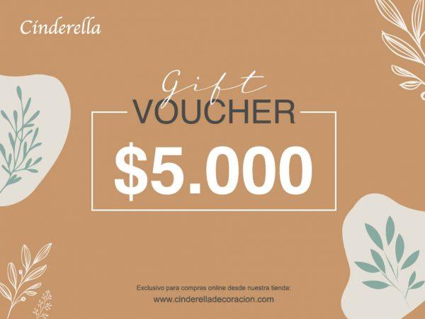 gifcard cinderella 5000