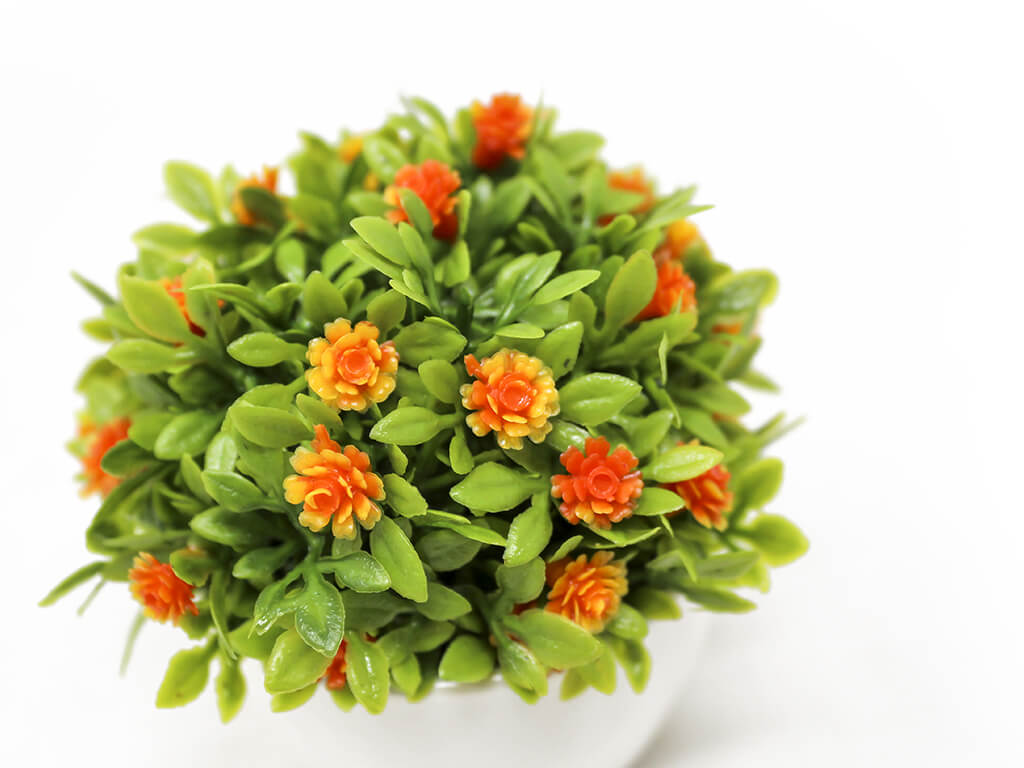 Bonsai flores 12 naranja detalle 2
