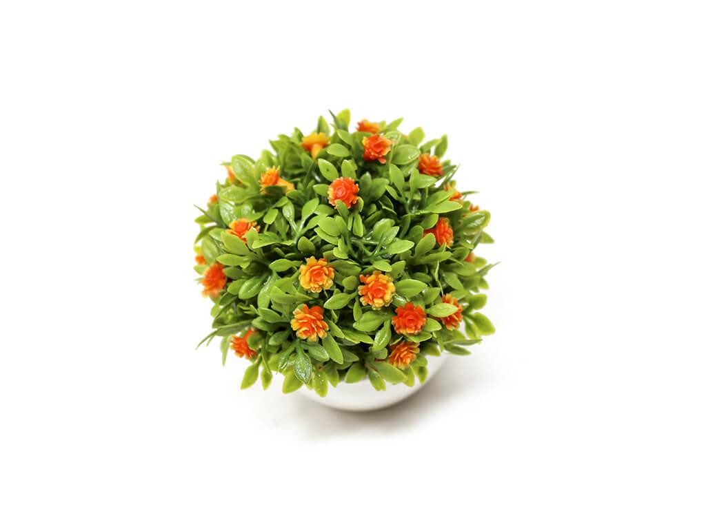 Bonsai flores 12 naranja detalle
