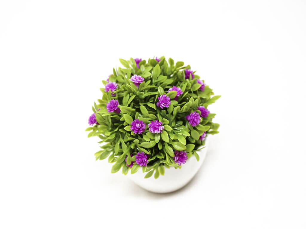 Bonsai flores 14 purpura detalle