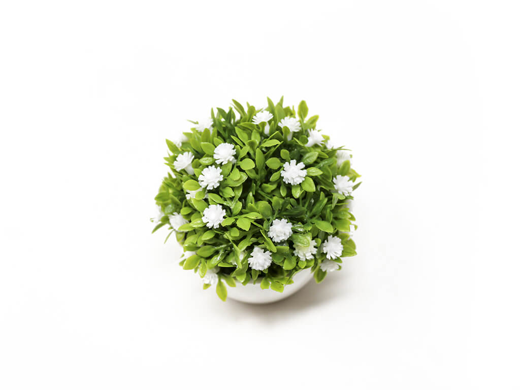 Bonsai flores 9 blanco detalle