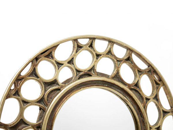 Espejo vintage deco 1 dorado detalle
