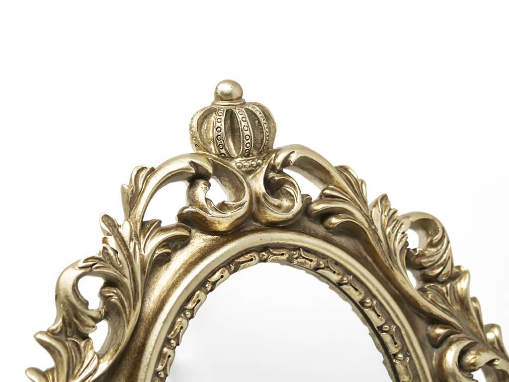 Espejo vintage deco 2 dorado detalle.