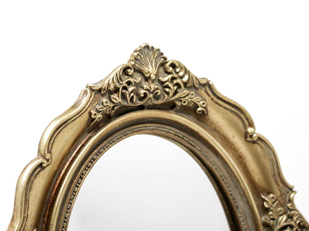 Espejo vintage deco 3 dorado detalle