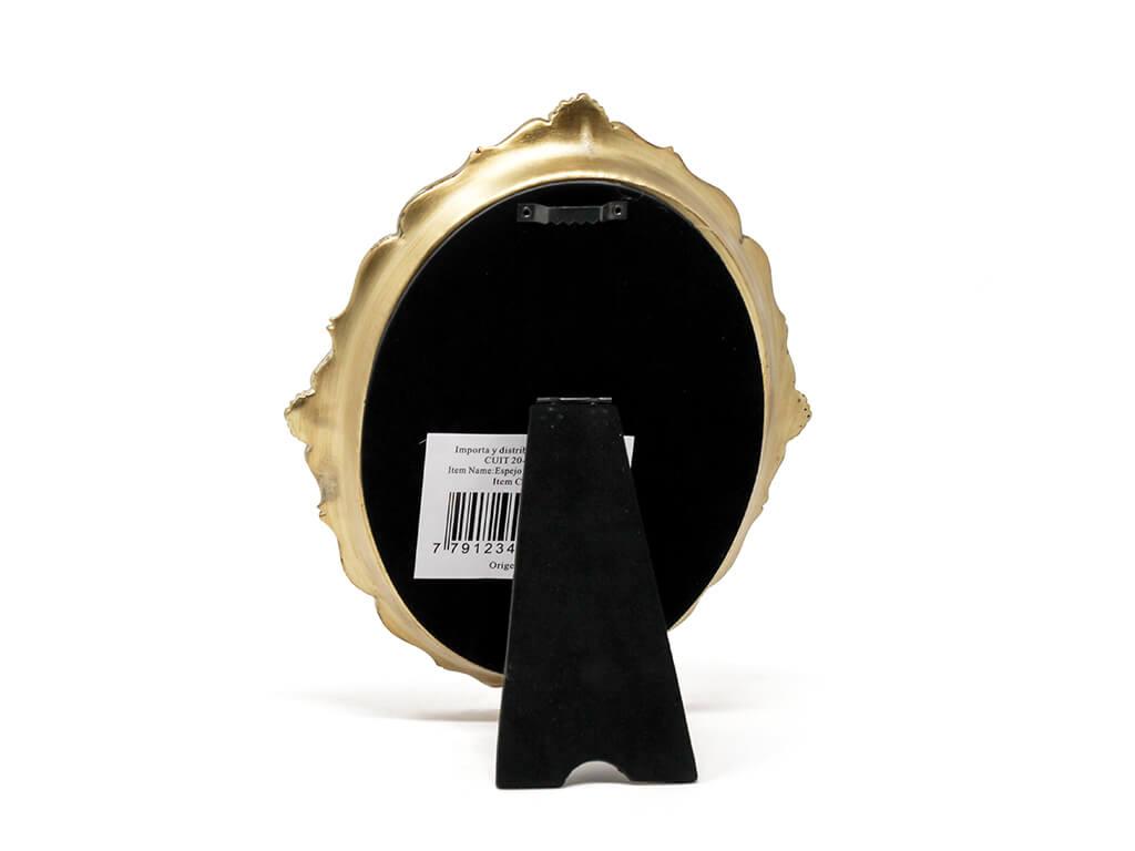 Espejo vintage deco 3 dorado reverso