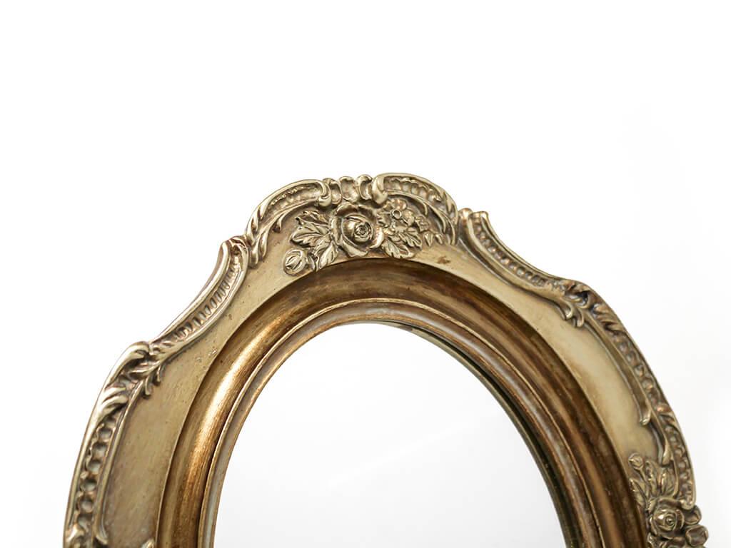 Espejo vintage deco 4 dorado detalle