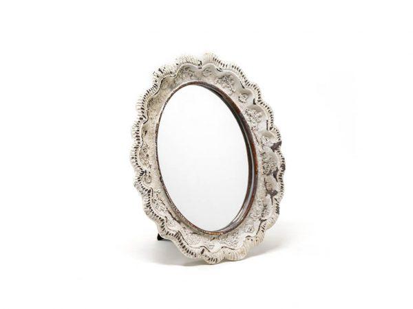 Espejo vintage deco 6 blanco