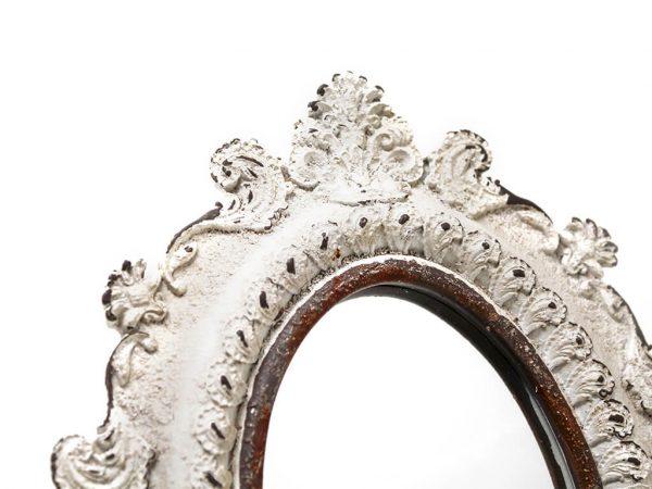 Espejo vintage deco 7 blanco detalle